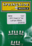 Springside DA4 WHITE (10) - OO Scale   LMS Head & Tail Lamps White (10)